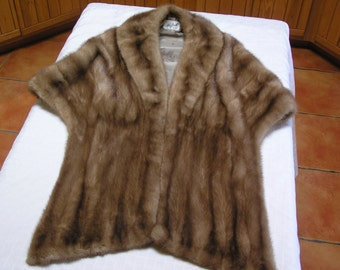 Reduced...Mink medium brown 1950s stole
