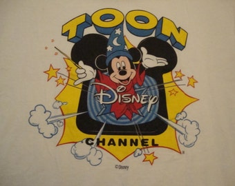 Vintage Mickey Mouse Walt Disney Toon Channel 90's Frito Lays Potato Chips Sponsor TV Show T shirt L