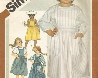 Vintage Simplicity 6307 Girls Jumper and Blouse Pattern SZ 4-6  CLEARANCE ITEM