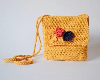 Shoulder summer bag, crossbody cotton bag, shoulder cotton purse, boho bag purse