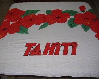 "Large Rectangular Tahiti Bora Bora Tablecloth, 76"" x 43"""
