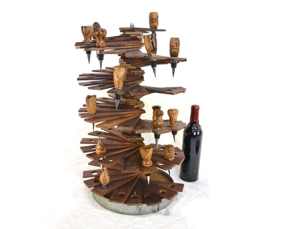 Wine Bottle Stopper Holder Made From Retired Napa Wine