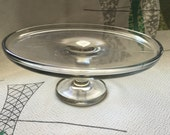Glass pressed cake pie cup cake stand
