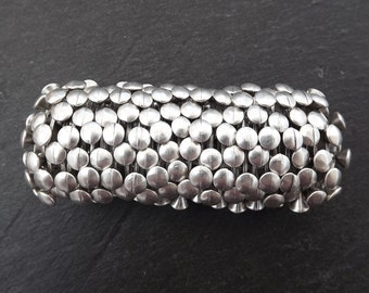 Dotty Stretchy Silver Statement Bracelet - Authentic Turkish Style