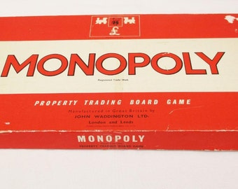 Vintage 1972 Monopoly John Waddington Retro Board Game