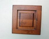 Rustic Brown Distressed Door - eco wall decor - reclaimed maple wood - color rustic alder