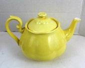 vintage bright yellow glass tea pot home decor craft supply