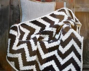 Crochet Pattern, The Cheyenne Chevron Afghan Pattern, Crochet Afghan Pattern, Crochet Chevron Pattern, Crochet Blanket Pattern,