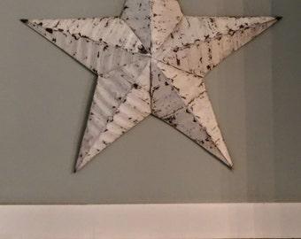 Vintage Metal Star/Metal Barn Star/Distressed Barn Star/Chippy White Star/Farmhouse Decor