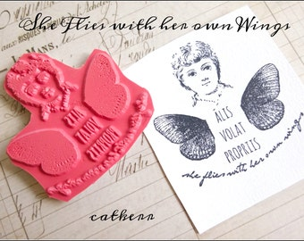 Cat Kerr She Flies with her own Wings Foam Mounted Stamp