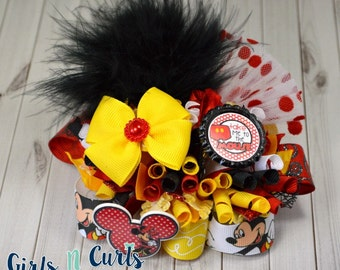 Ready To Ship Take Me To The Mouse Funky Loopy Boutique Bow