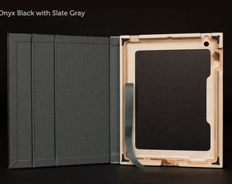 The Contega iPad Case for iPad 4/3/2 - Onyx Black with Slate Gray Interior