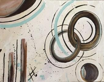 Original Painting Abstract Art Circles