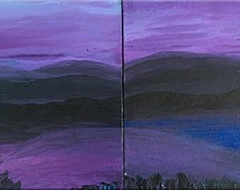 Peak - DanielBrunosArts - Landscape Painting - large - Original   ( 48'' x 18''  x1.5'' deep )