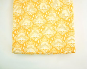 Bee Changing Pad Cover - Honey House - Contoured Changing Pad Cover