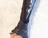 Witty Kitty Fingerless leather Gloves