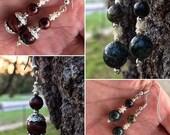 Bead and Bone Dangle Earrings