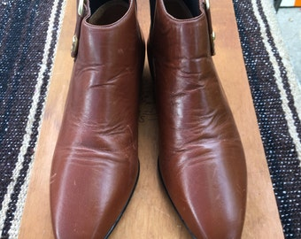 6.5 Brown leather Chelsea Boots