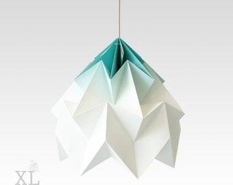 lamp origami Moth XL gradient mint. Lamp for bedroom, living room or nursery.