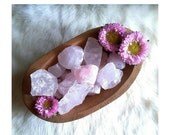 AUTUMN SALE 15% OFF Raw Rose Quartz Stone (1) Sacred Space - Meditation - Home Decor