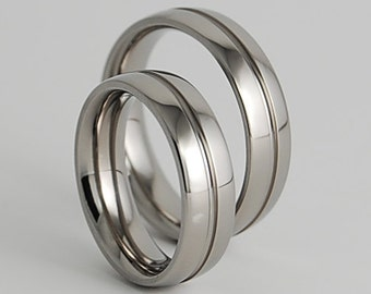 Wedding Bands , Titanium Rings , Promise Rings , Titanium Wedding Ring Set , Titanium Wedding Band Set , The Orion Bands with Comfort Fit
