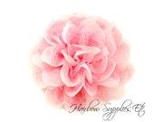 Pink Petite Lace Chiffon Flowers 3.5 inch - Pink Shabby Flowers, Pink Fabric Flower, Pink Chiffon Flower, Pink Flowers for hair, Pink Flower