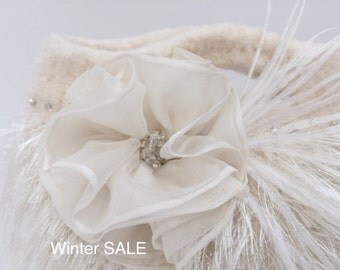 Bridal Clutch - Ivory - Feathers - Wedding Clutch - Weddings - Bridal Accessories