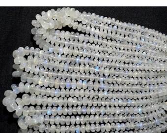 55% ON SALE Rainbow Moonstone Beads, 5mm To 6mm Beads, Plain Beads, Rondelle Beads, 7 Inch Half Strand