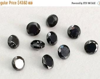 55% ON SALE 100 Pcs 3.5mm Black Cubic Zirconia, Loose Round Zircon, Faceted Zirconia, Sparkling Black Cz Diamonds - Pgpa78