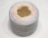 Gradient yarn silk yarn mulberry silk yarn laceweight yarn handdyed yarn 49-50g (1.7oz) - Winter sunset