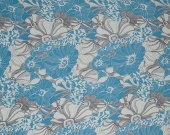Floral Print Curvy Vibrant Silk Fabric by the yard - Pinwheel Posie - HUA/017-CRG