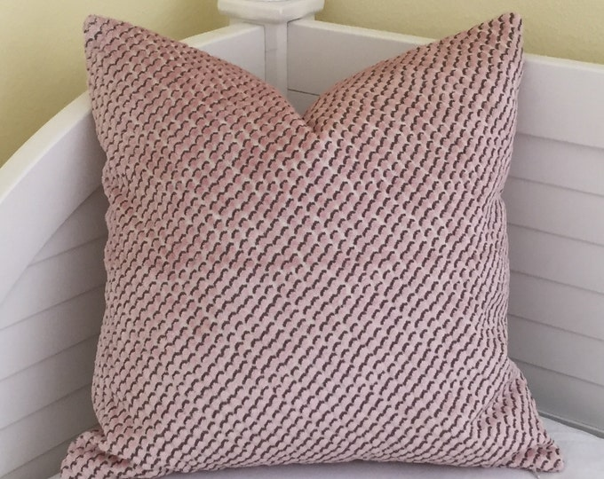 Kravet  Dot in Blush Designer Pillow Cover - Square, Lumbar and Euro Sizes