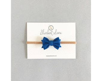 Baby Bow Headband - Mini Standard Bow - Royal