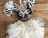 Anchors away cozette couture silk feather bow clip