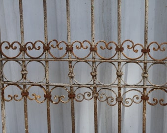 Antique Iron Fence or Door Section 72