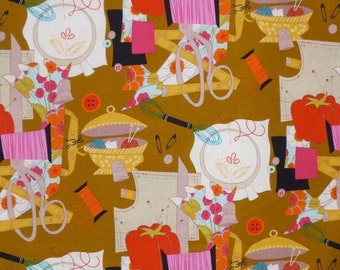 ON SALE Sew Retro Print Pure Cotton Fabric from Alexander Henry--One Yard