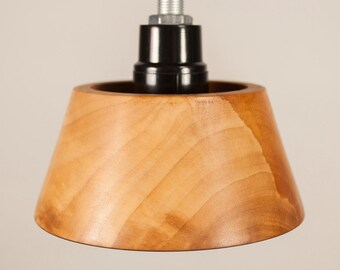 Wood Pendant Light, handmade from Dogwood