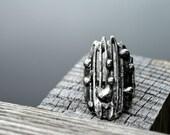 Artisan Rings, Abstract Free Form, Metal Ring, Fully Adjustable, Organic Ring, Artisan Ring (2518)