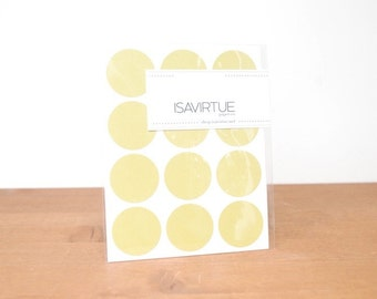 chartreuse green circle labels: circle seals, green stickers, round labels, envelope seals set of 48