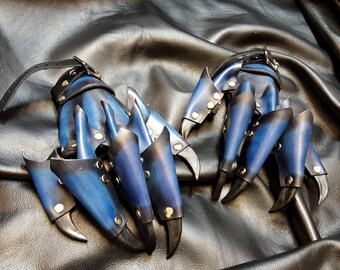 Dragon Claw Gloves- Leather Armor, Pick you Color and Size