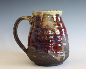 LARGE Mug, 21 oz, handmade ceramic cup, handthrown mug, ceramic stoneware pottery mug unique coffee mug ceramics and pottery