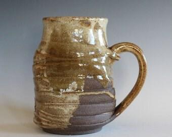 Pottery Coffee Mug, 22 oz,TWISTED,unique coffee mug, handmade ceramic cup, handthrown mug, stoneware mug, wheel thrown pottery mug, ceramics