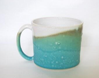 Mug Turquoise and White