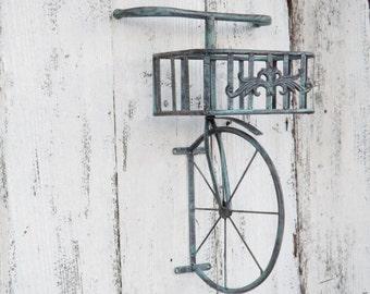 Metal Bicycle Wall Decor bicycle wall art / yellow wall decor / metal bicycle / metal