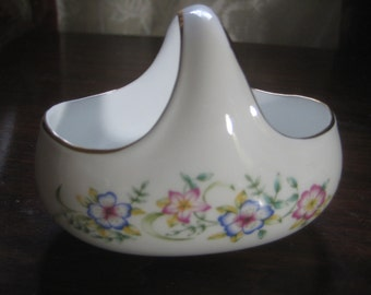 Vintage Royal Tara Condiment Basket;  Floral Pattern, Hand Made in Galway, Fine Bone China, Made in Ireland, 1 Piece