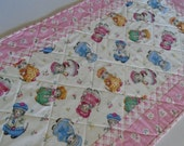 Custom Order for Michelle, Kitty Quilted Table Runner, Retro Vintage, Table Quilt,  Kitty Cucumber by In the Beginning Fabrics