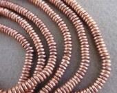 Copper Heishi Beads-3 Strands