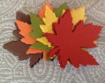 200 Large 4 Inch Fall Leaves die cuts