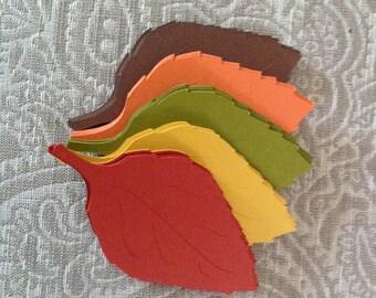 100  Veined Fall Leaves 4 inch die cuts
