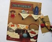 Hutspot House Bread Covers Cross Stitch Pattern Basket Liner Napkin Alphabet Letter Table Cloth Runner Bless This House Flower Bird Tew 1985